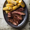 Grilled Cumin-Rubbed Flank Steak with Mexican Street Corn