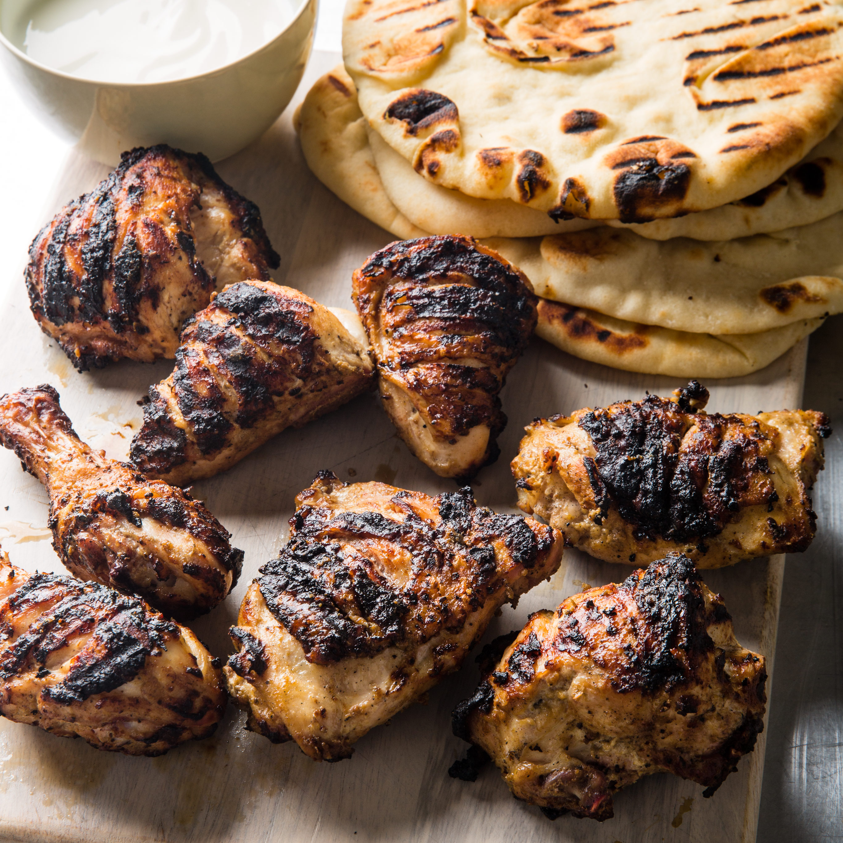 Tandoori-Style Chicken with Grilled Naan