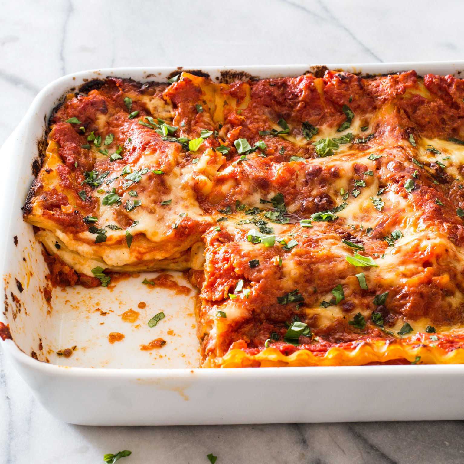 Cheese And Tomato Lasagna America S Test Kitchen