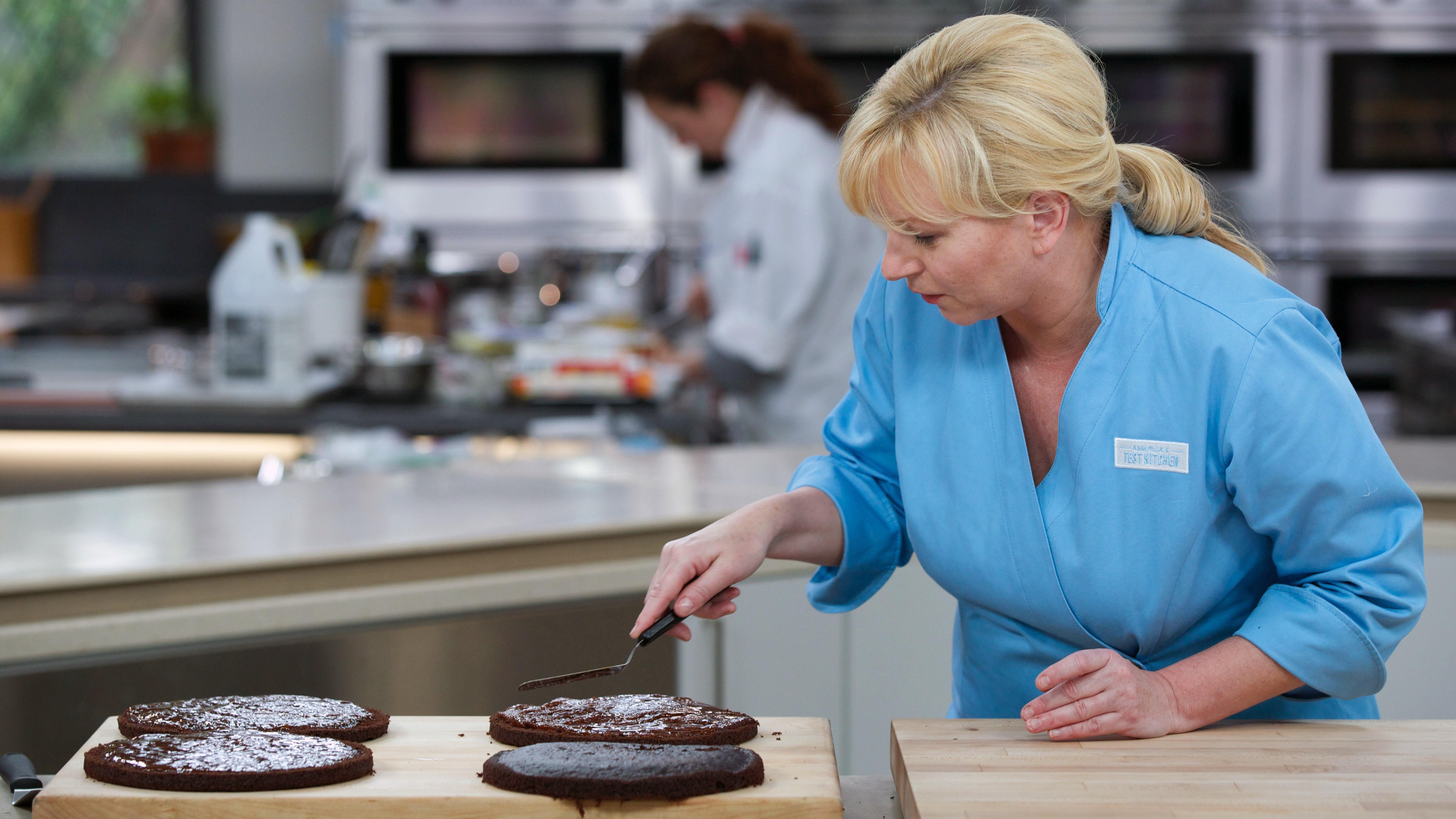 America Test Kitchen Chocolate Caramel Layer Cake