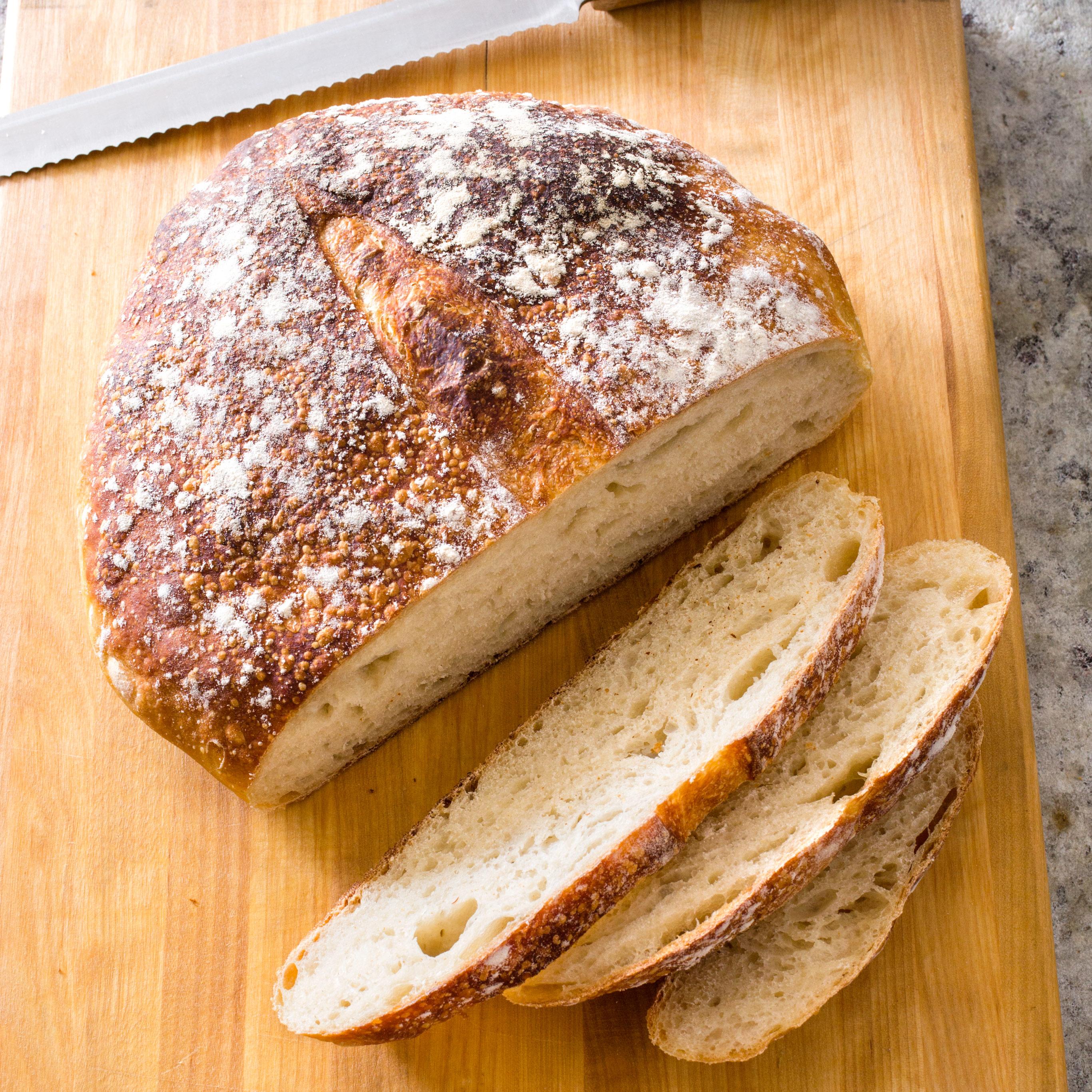 Almost No Knead Sourdough Bread America S Test Kitchen