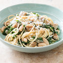 Pasta with Chicken Sausage, Swiss Chard, and White Beans