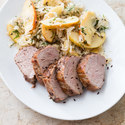Caraway Pork with Sauerkraut and Apples