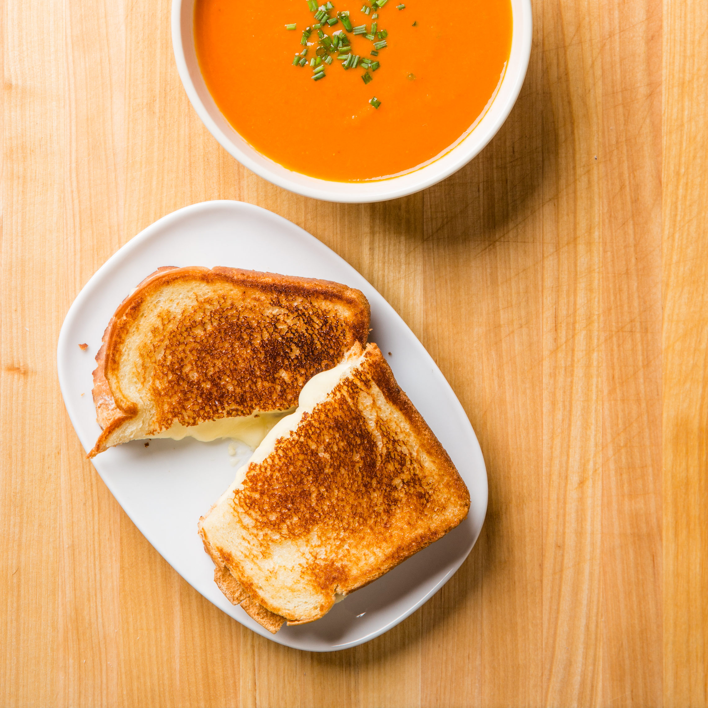 Grilled Cheese With Tomato Soup For Two Cook S Country