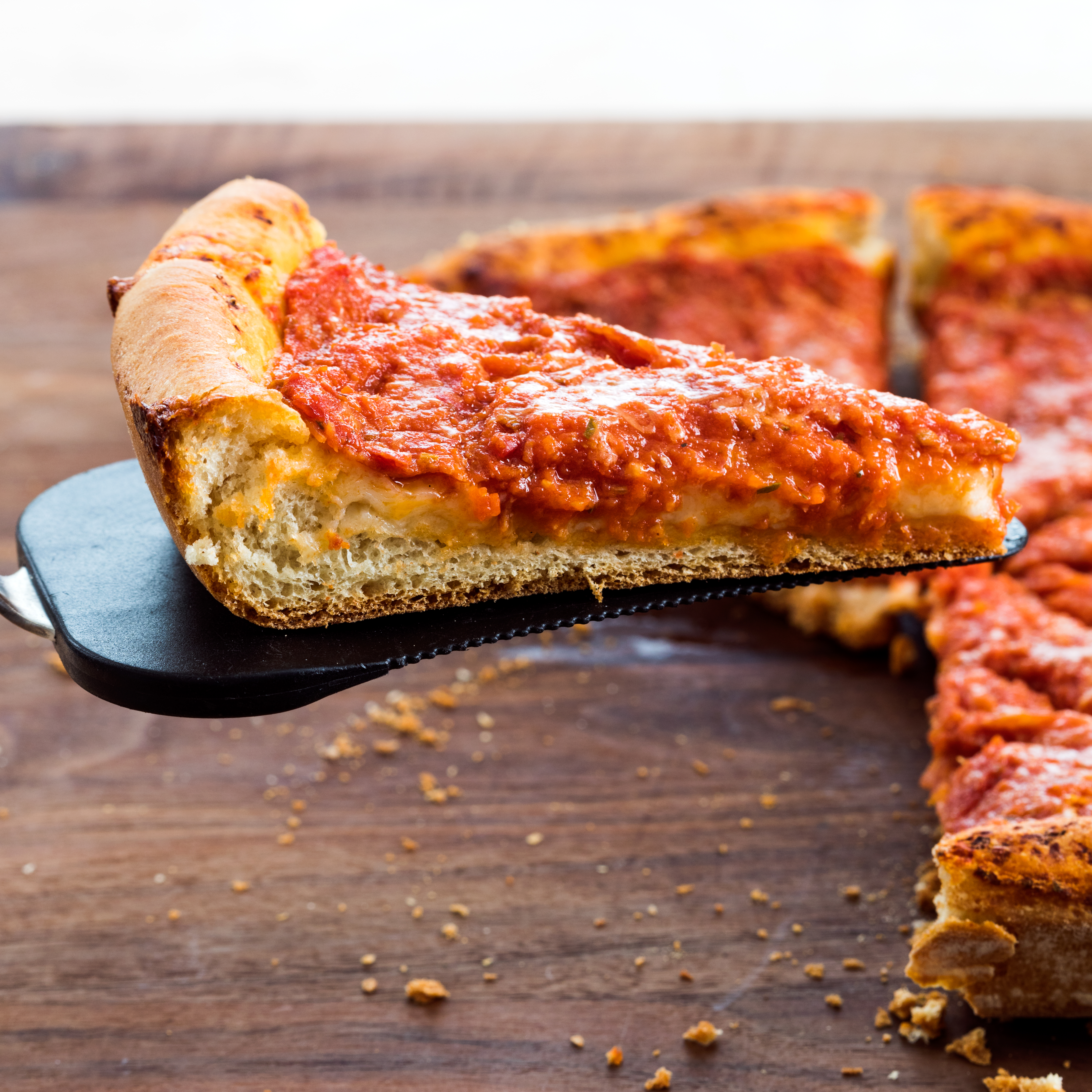 Cast Iron Chicago Style Pepperoni Pan Pizza Americas Test Kitchen