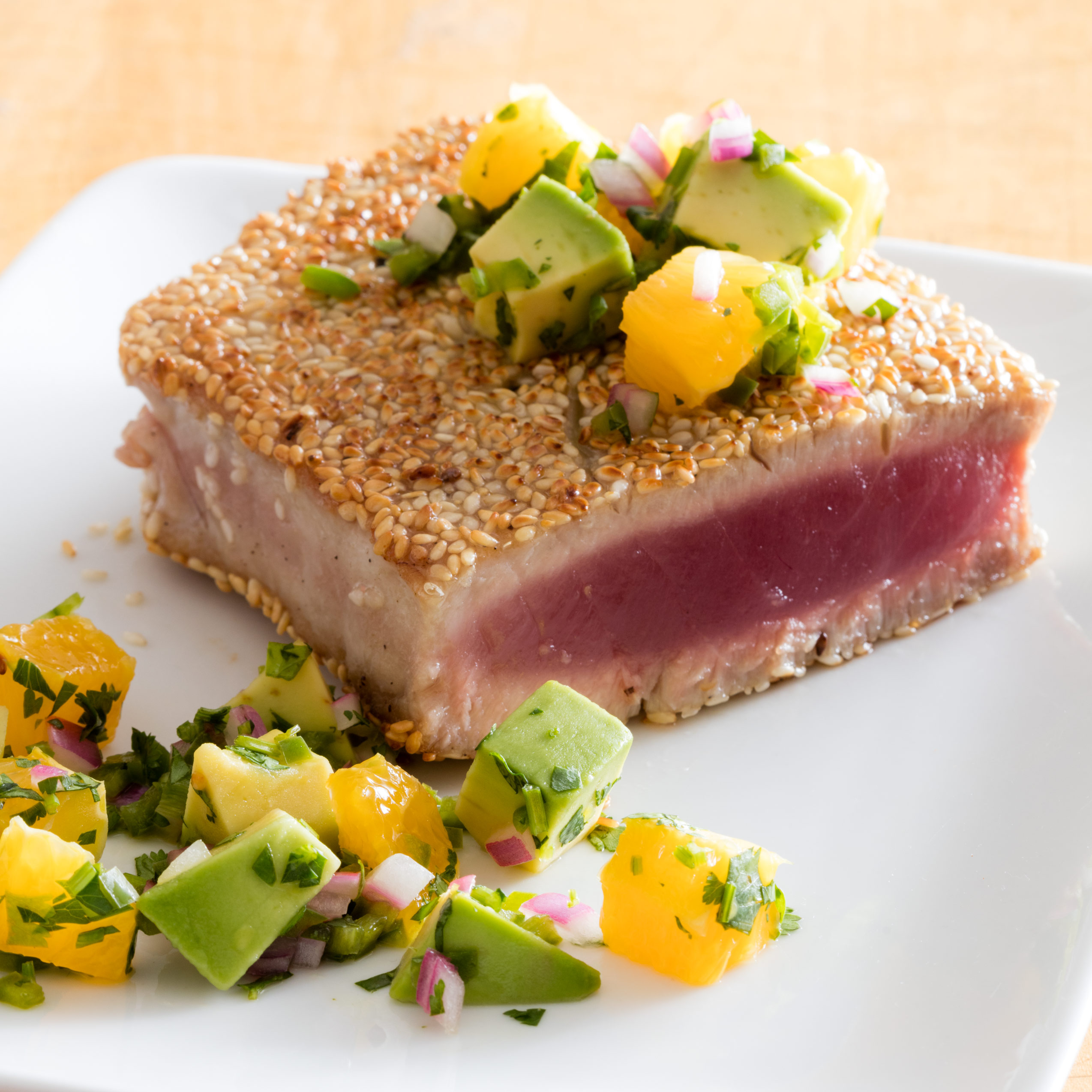 Pan-Seared Sesame-Crusted Tuna Steaks | Cook's Illustrated