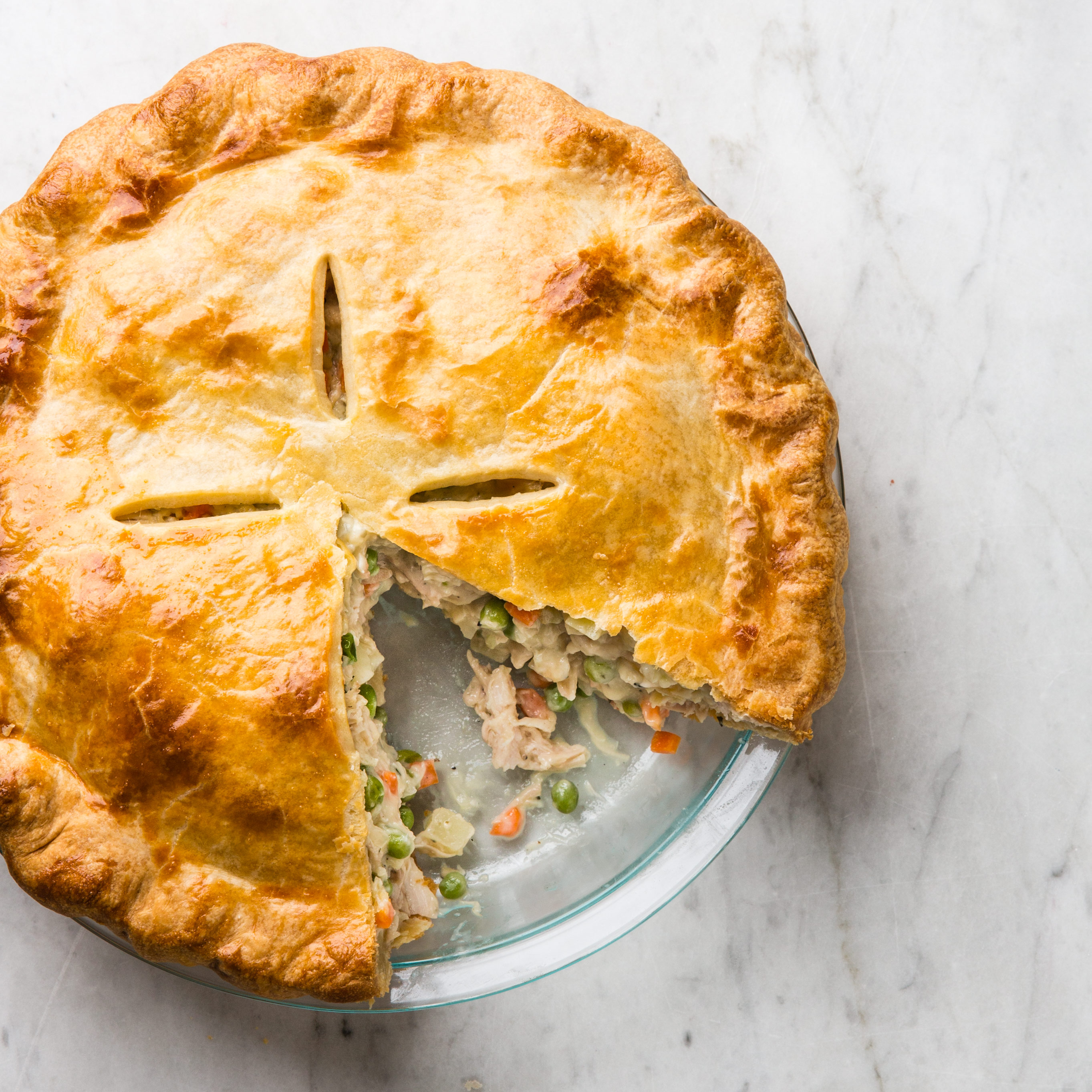 Double Crusted Chicken Pot Pie Recipe — Dishmaps