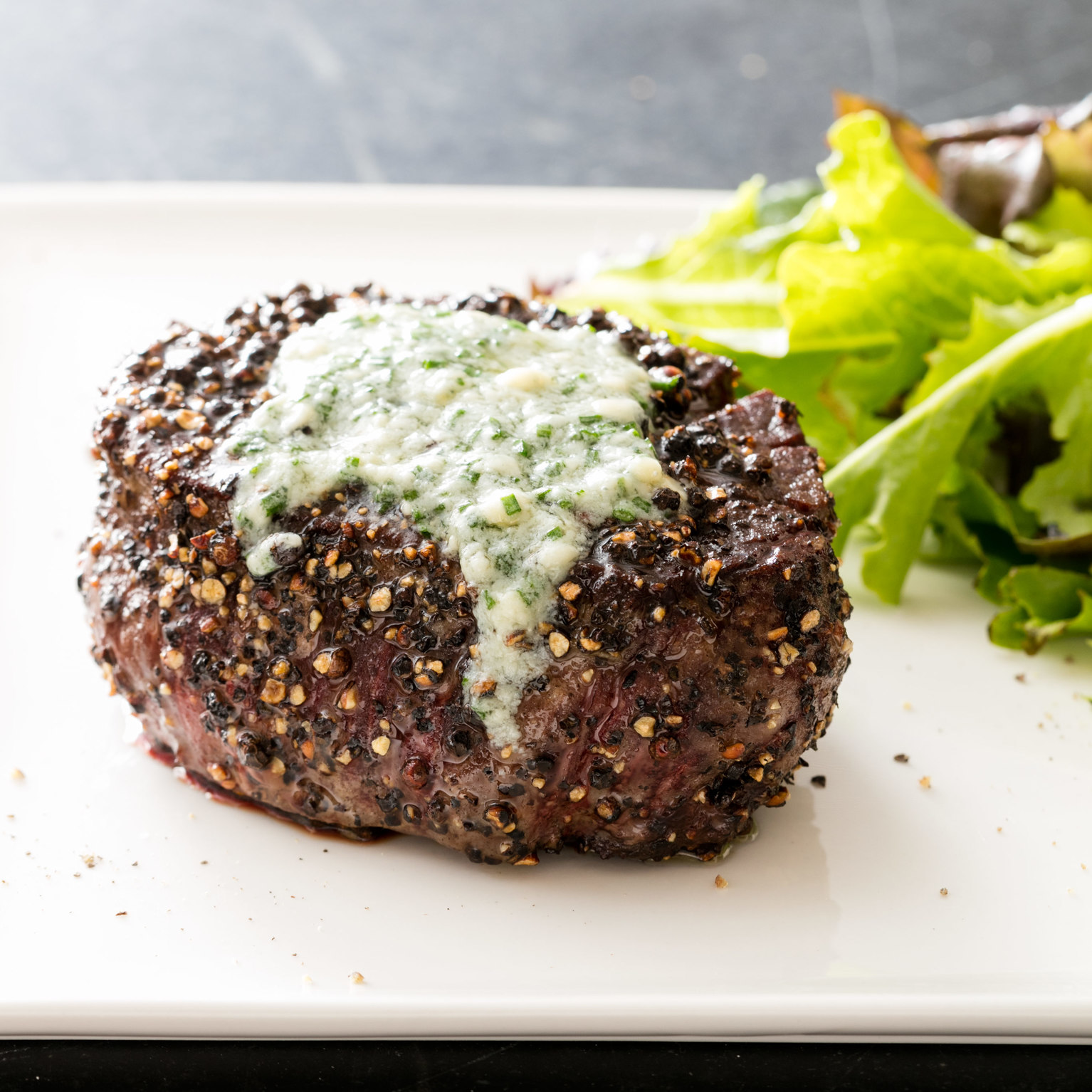 Pepper-Crusted Filet Mignon Recipe — Dishmaps