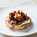 Ricotta Crostini with Olives and Sun-Dried Tomatoes