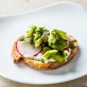 Ricotta Crostini with Asparagus and Radishes