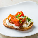Ricotta Crostini with Cherry Tomatoes and Basil