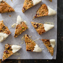 Cranberry Pistachio Coconut Triangles