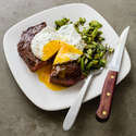 Steak and Eggs with Asparagus
