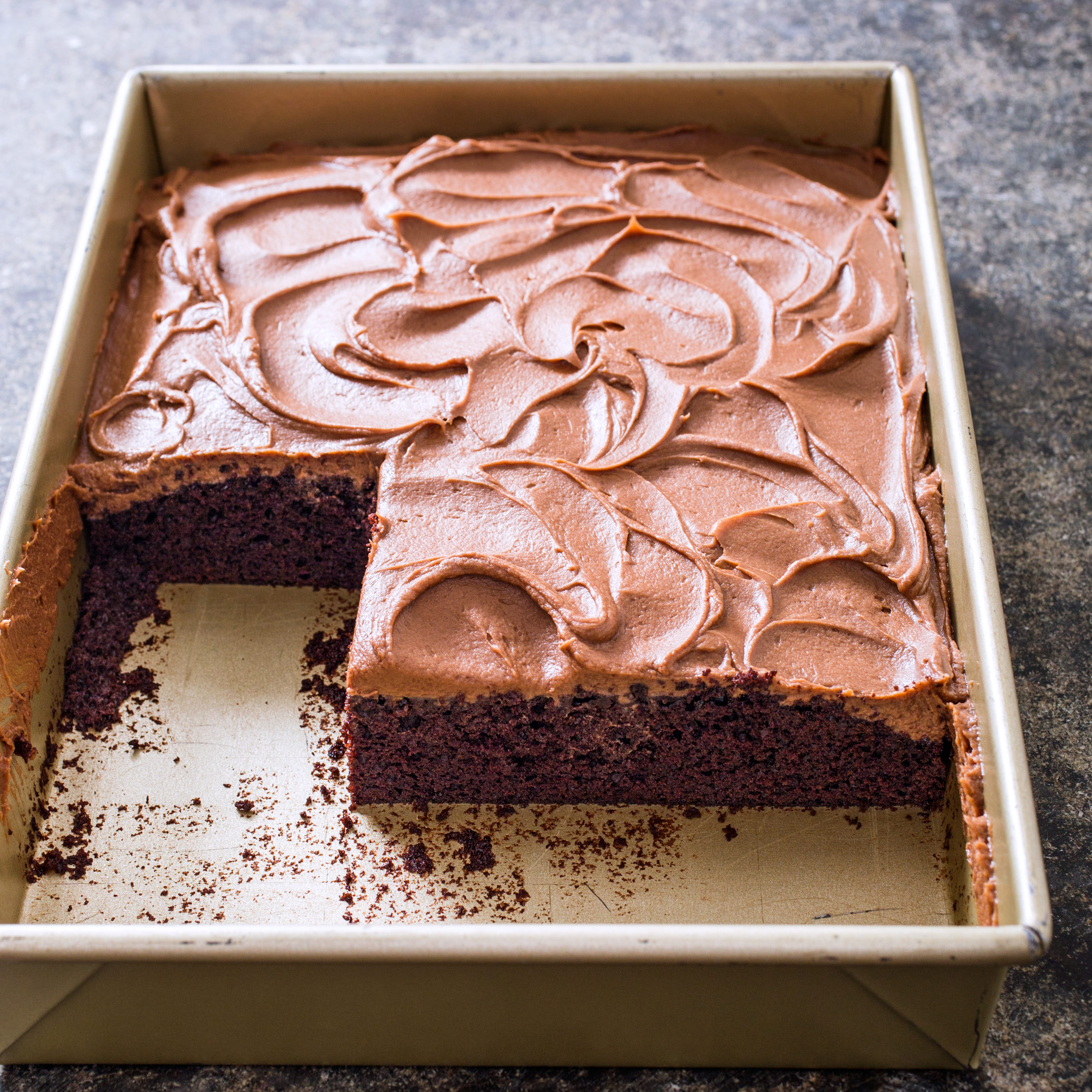 Chocolate Sheet Cake with Milk Chocolate Frosting Americas Test