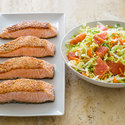 Sesame Salmon with Grapefruit Slaw