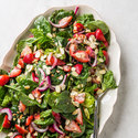 Spinach and Strawberry Salad with Poppy Seed Dressing