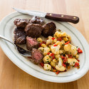 Steak Tips with Spicy Cauliflower