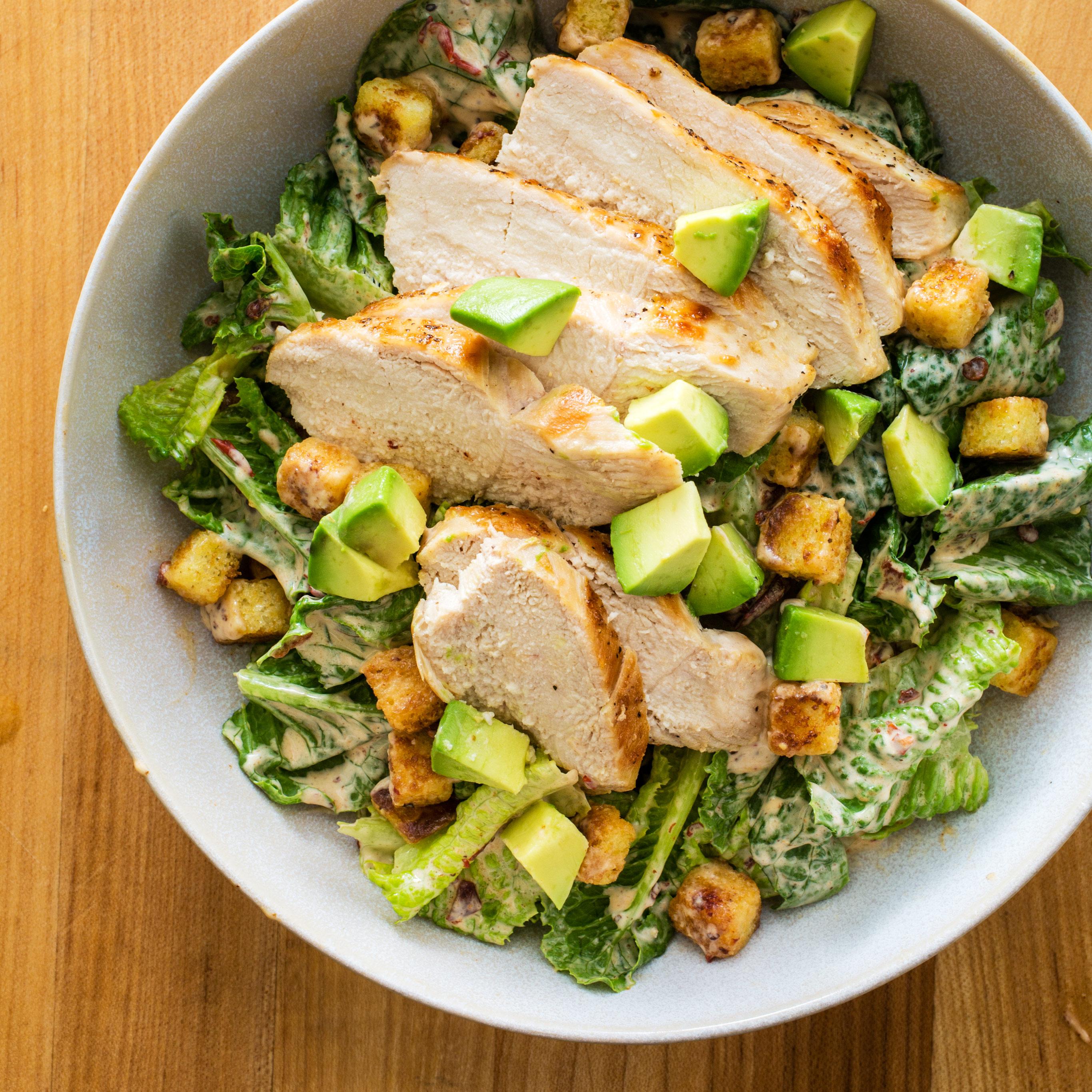 Chipotle Chicken Caesar Salad America S Test Kitchen