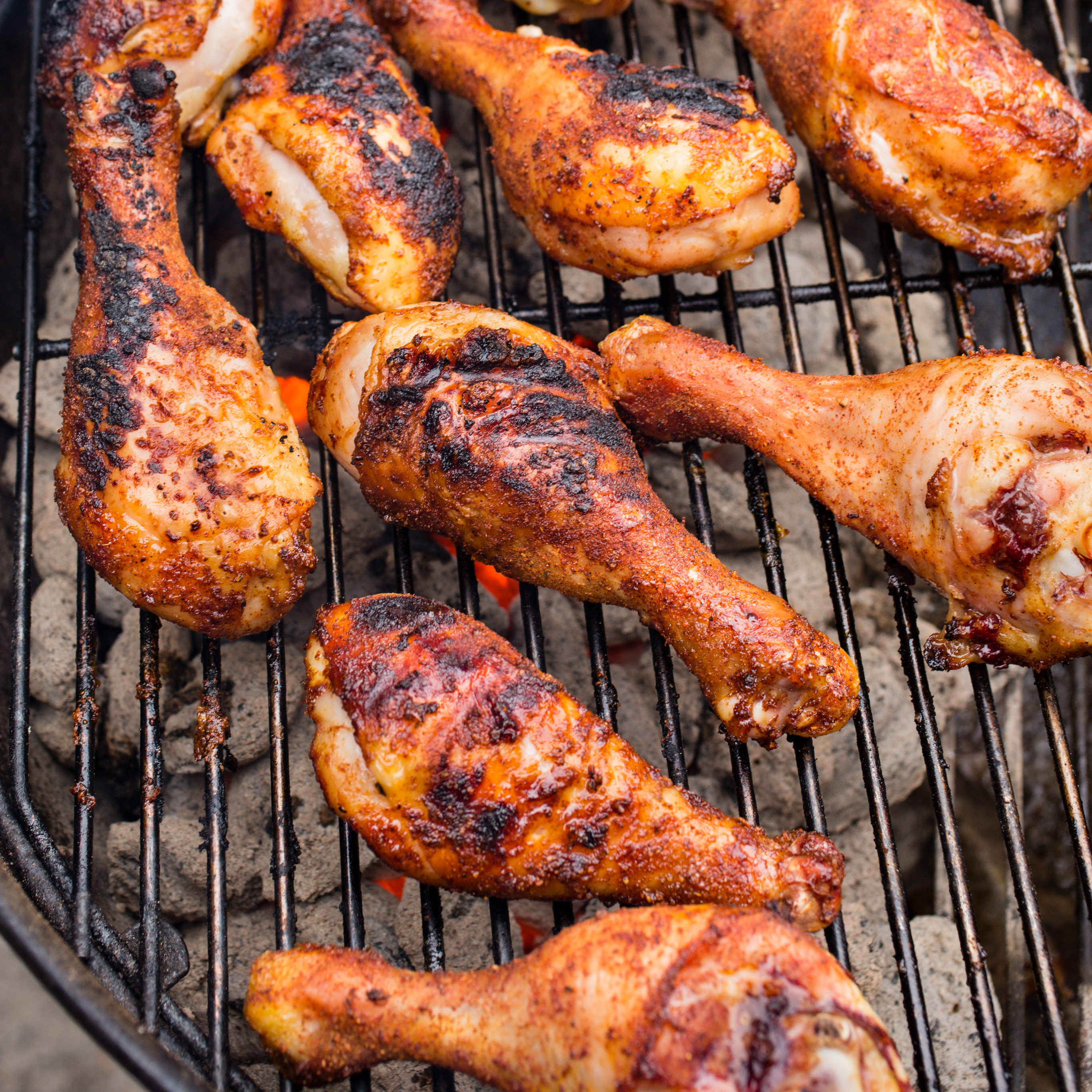 grilled spice rubbed chicken drumsticks america s test kitchen
