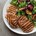Grilled Pork Chops with Plums