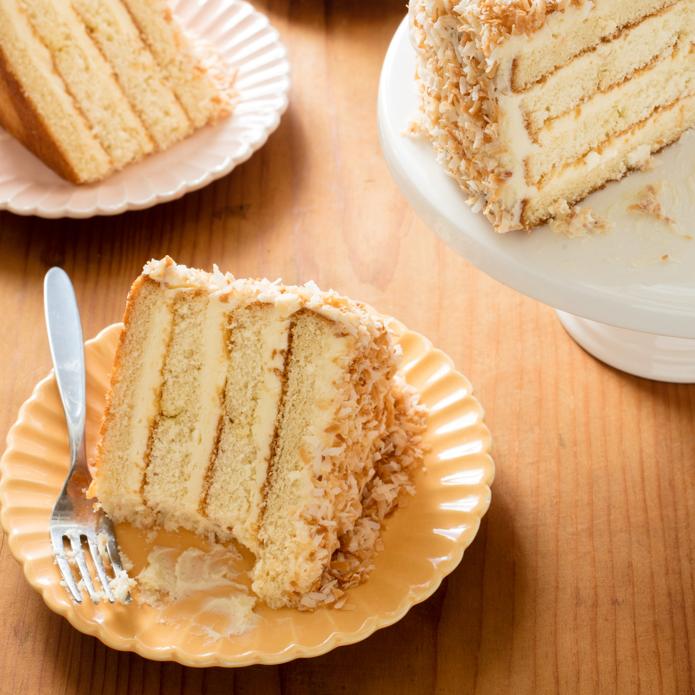 three layer cake coconut layer cake america s test kitchen 7977