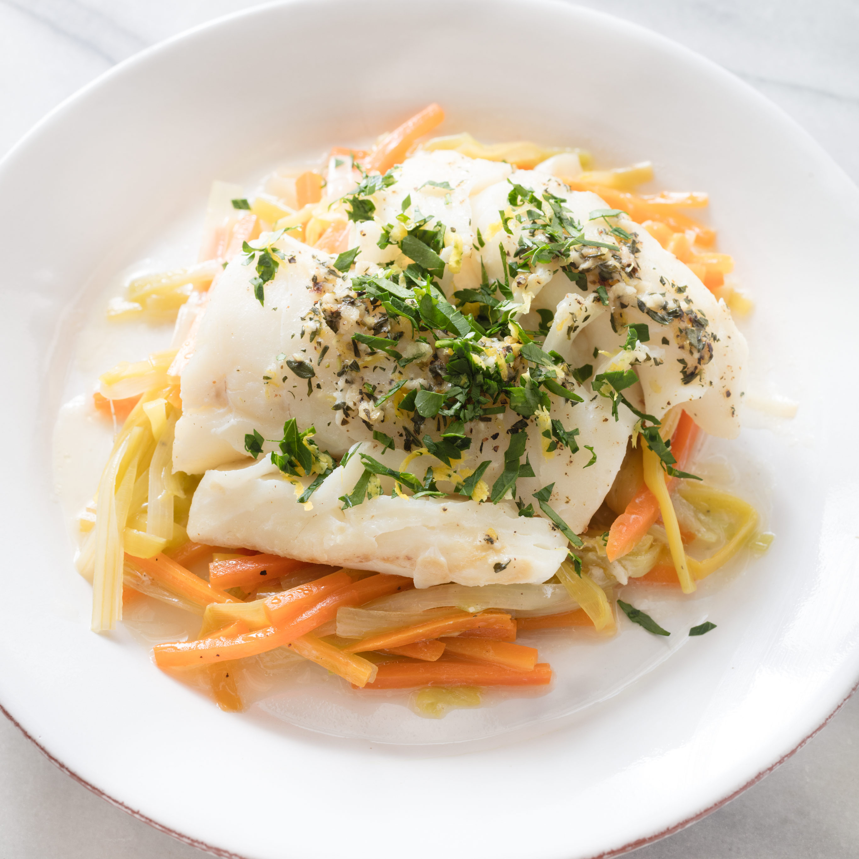 Paleo Cod Baked In Foil With Leeks And Carrots America S