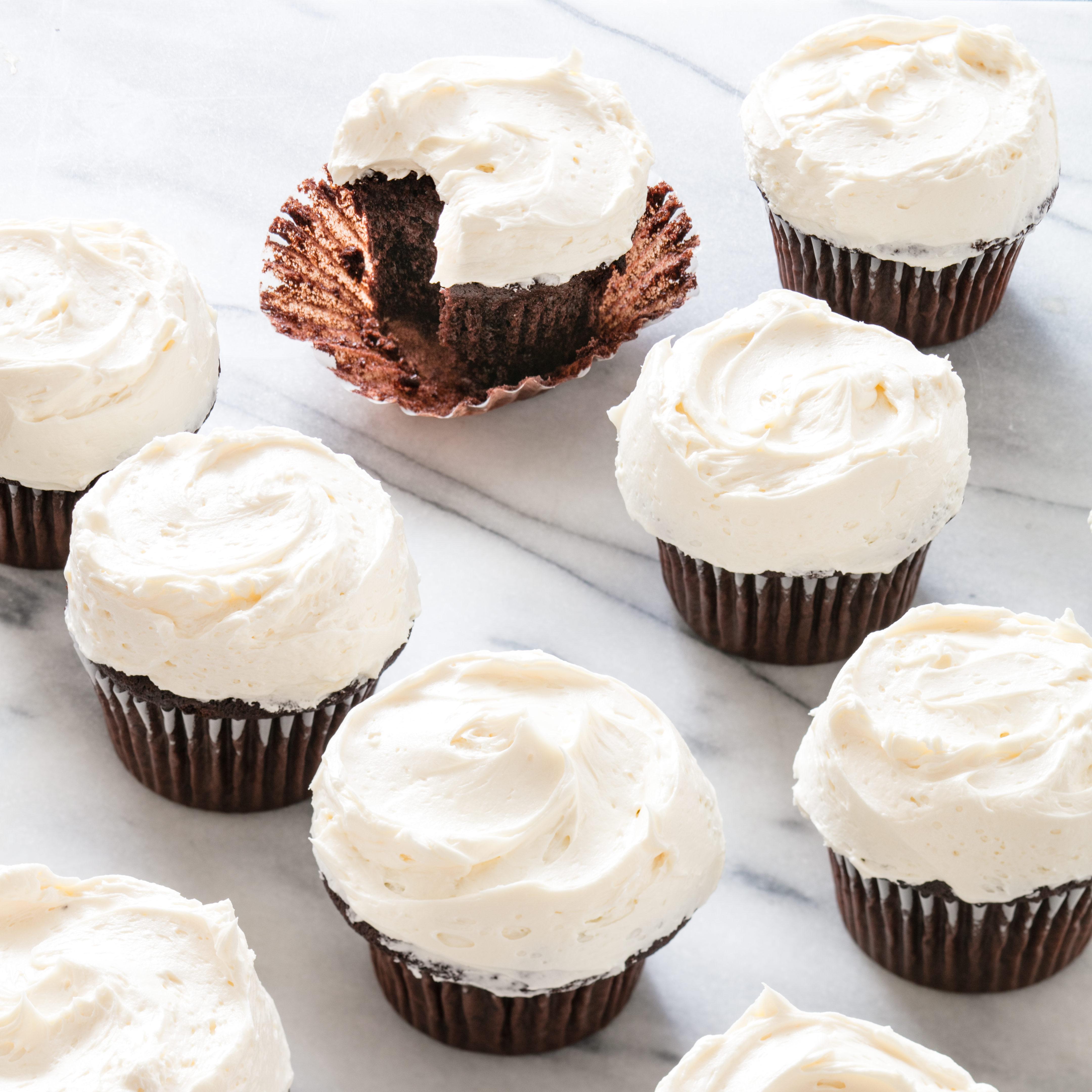 Dark Chocolate Cupcakes | America\'s Test Kitchen