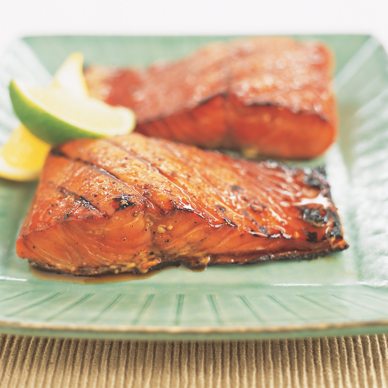 Grilled Salmon with Maple-Soy Glaze