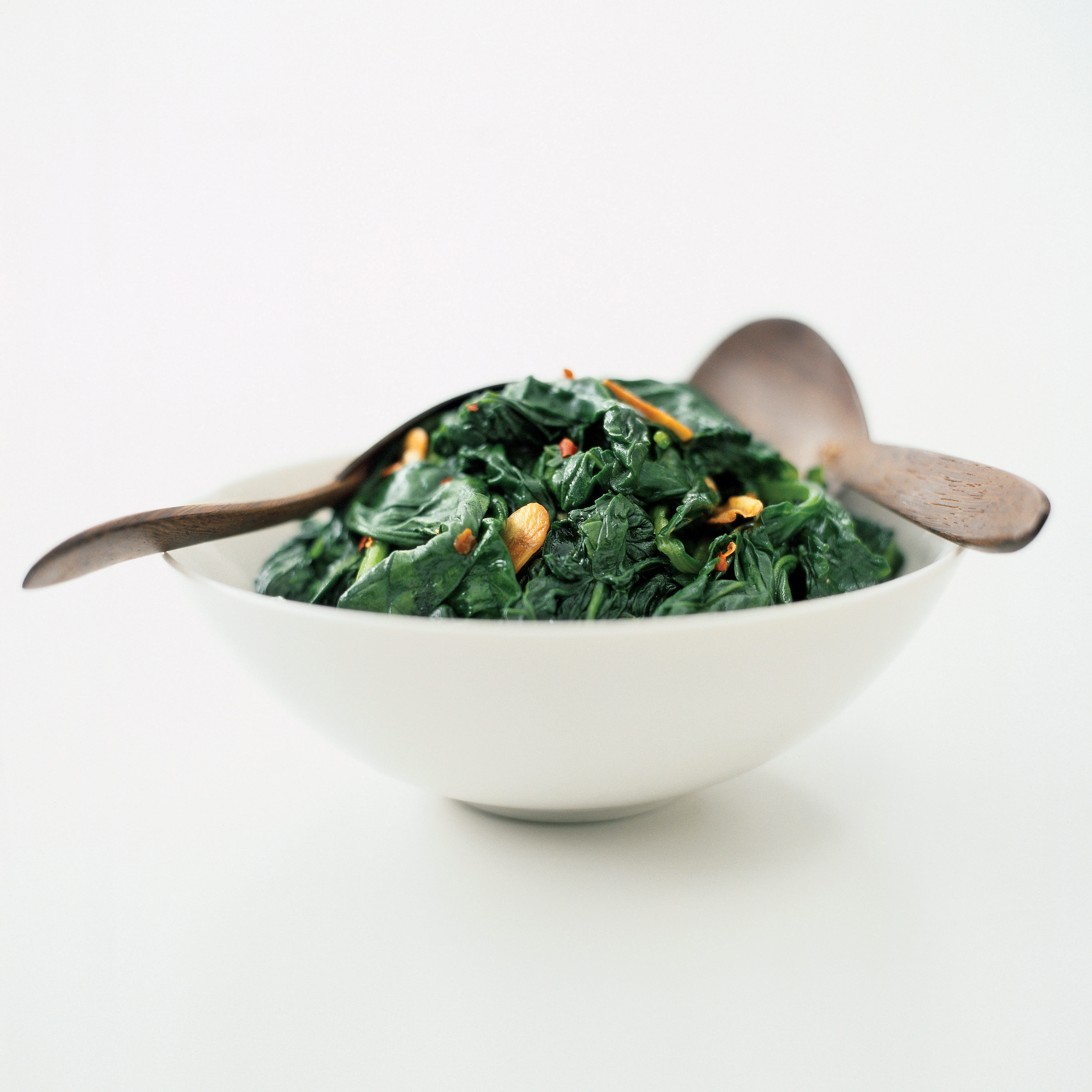 Sauteed Spinach with Almonds and Golden Raisins   America\'s Test Kitchen