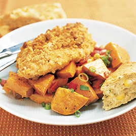 Oven Fried Chicken And Roasted Sweet Potato Salad Cook S