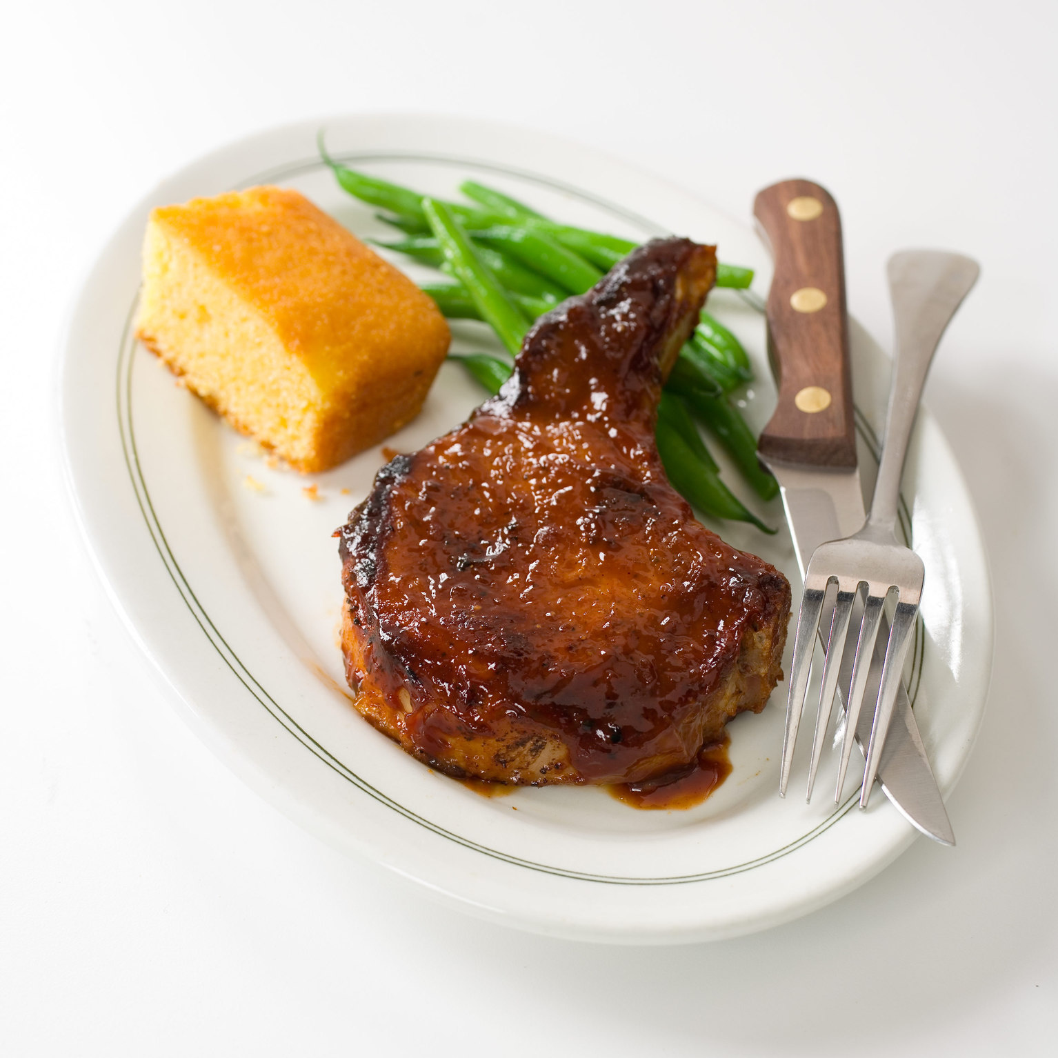 Skillet-Barbecued Pork Chops