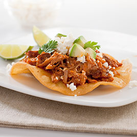 Spicy Mexican Shredded Pork Tostadas Tinga Cook S