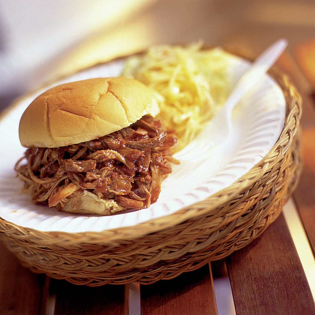 Barbecued Pulled Pork on a Gas Grill