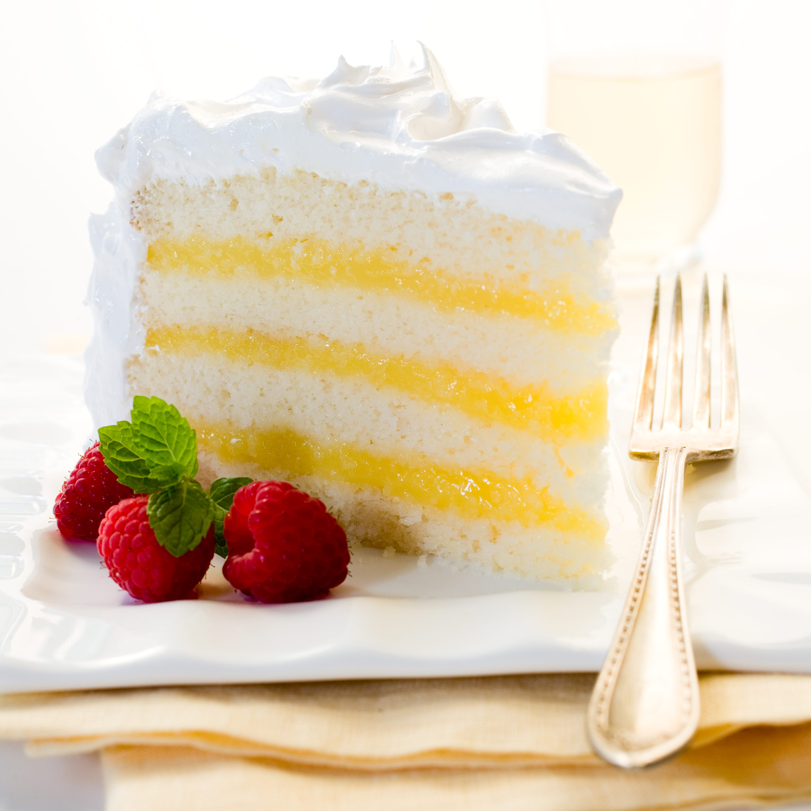 Lemon Layer Cake Recipe — Dishmaps