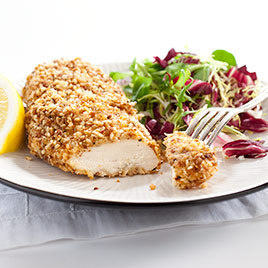 Nut-Crusted Chicken Cutlets with Lemon and Thyme