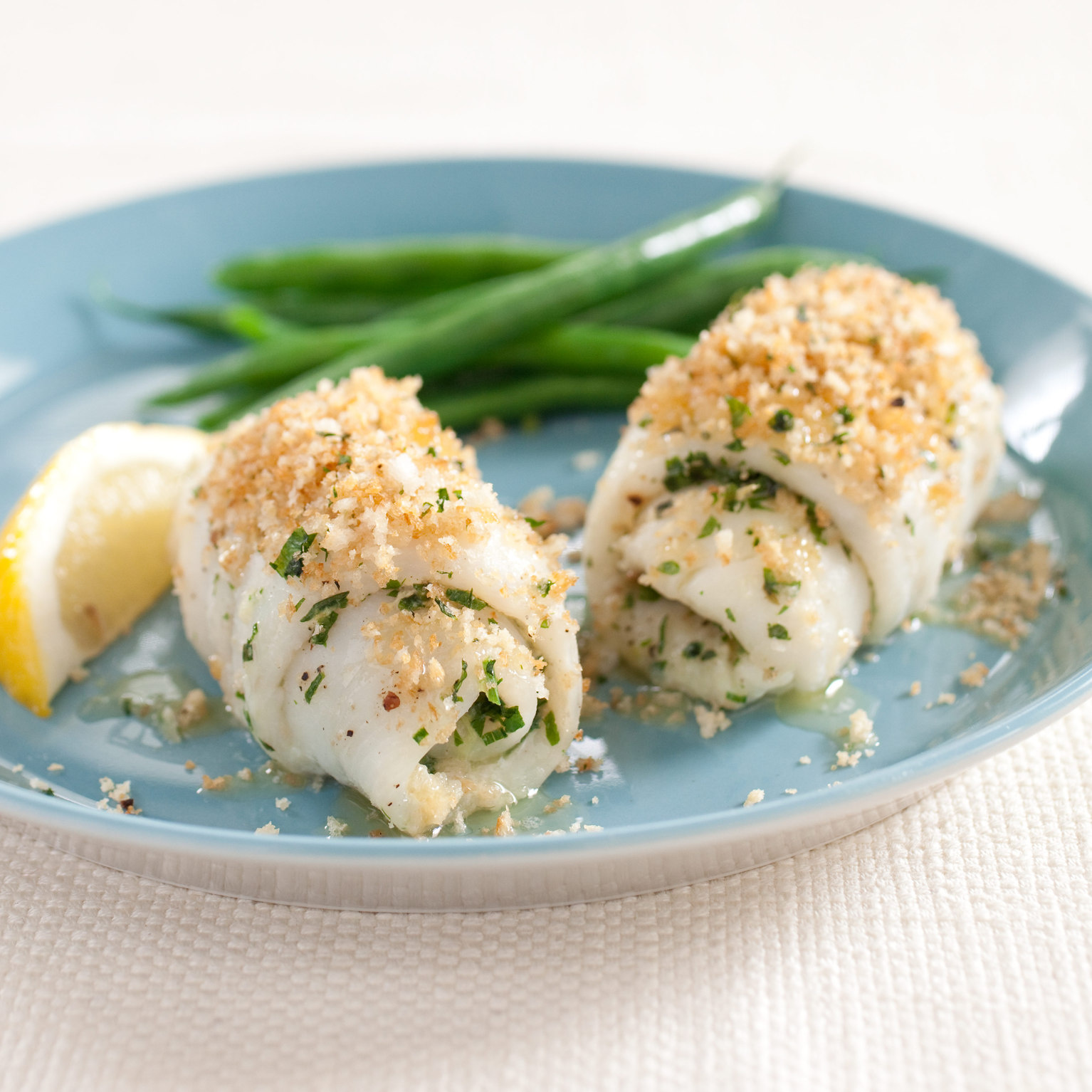 Baked Sole Fillets with Herbs and Bread Crumbs