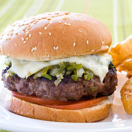 American Test Kitchen Green Chile Burgers