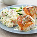 Pan-Roasted Chicken with Cheesy-Herb Mashed Potatoes