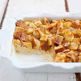 Rum Raisin Bread Pudding with Cinnamon