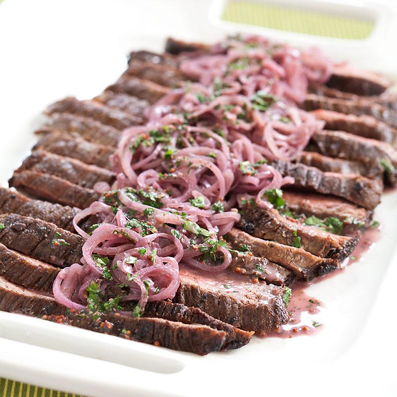 Flank Steak with Shallot-Mustard Sauce