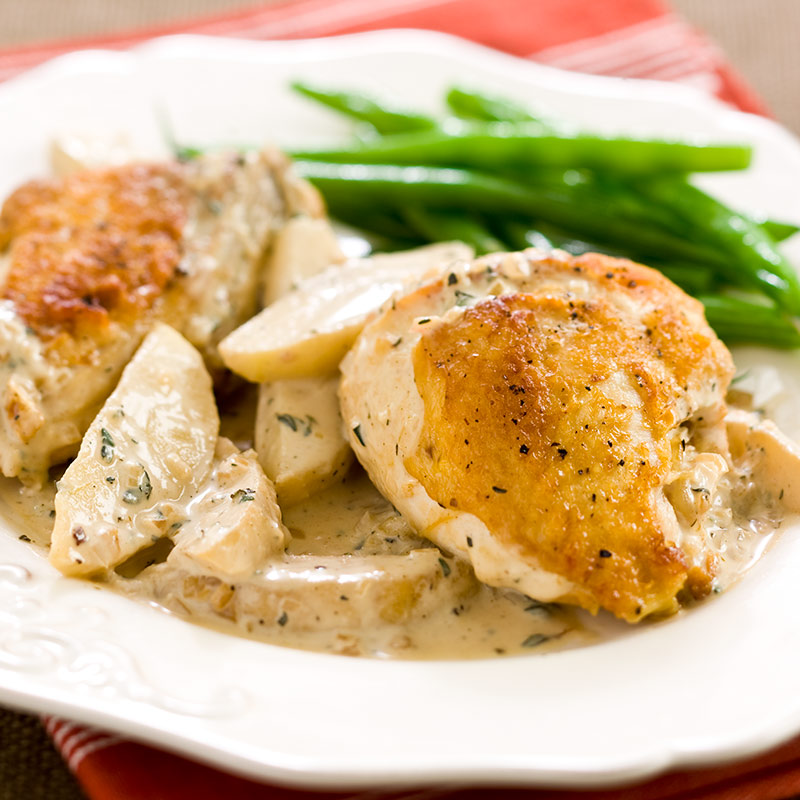 Chicken Normandy Recipe — Dishmaps