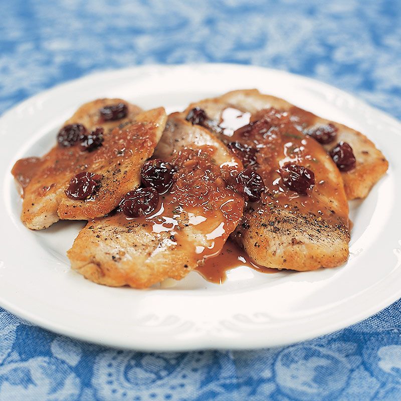 Turkey Cutlets with Cherry Sauce