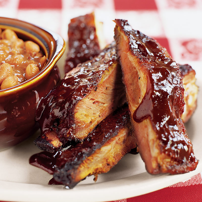 Kansas city sticky ribs on a charcoal grill recipe america 39 s test kitchen - Ribs on the grill recipe ...