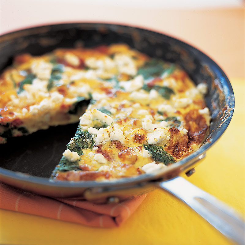 Spinach, Potato, and Bacon Frittata