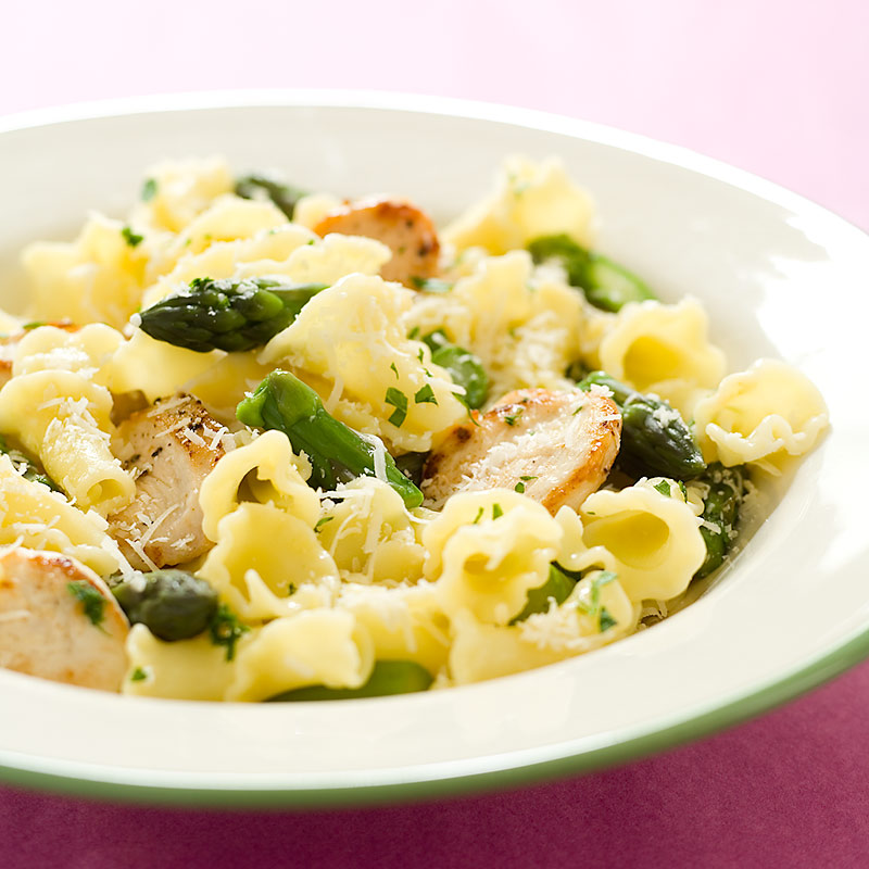 Pasta with Lemony Chicken and Asparagus