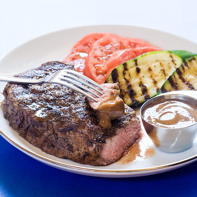Grilled rib eye steaks with homemade steak sauce cook 39 s - Steak d espadon grille sauce combava ...