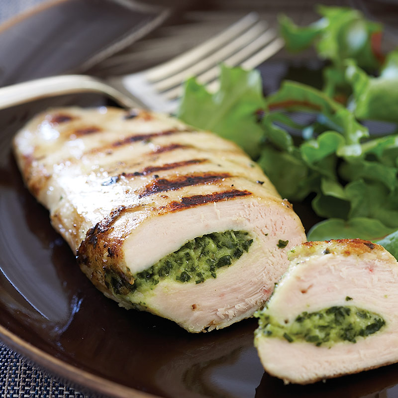 Greek-Style Grilled Stuffed Chicken Breasts