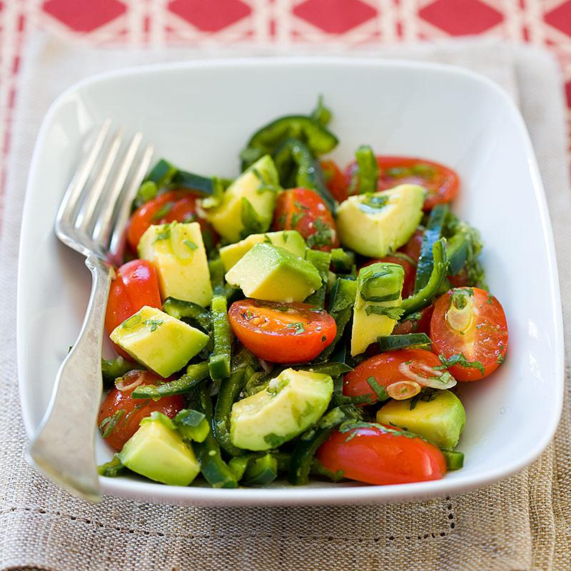 Green Kitchen Recipes: Guacamole Salad