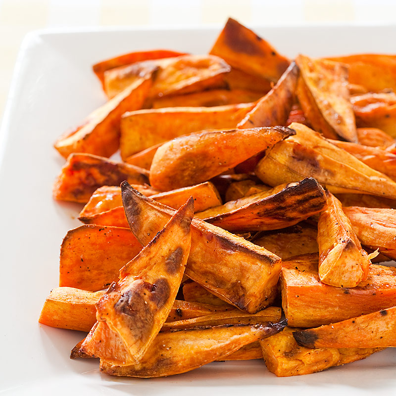 Caribbean-Spiced Roasted Sweet Potato Wedges