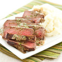 Strip Steaks with Balsamic Cream Sauce